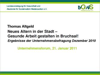 Ergebnisse der Unternehmensbefragung Dezember 2010