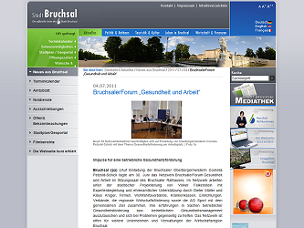 Klicken Sie, um die Veröffentlichung auf bruchsal.de zu lesen.